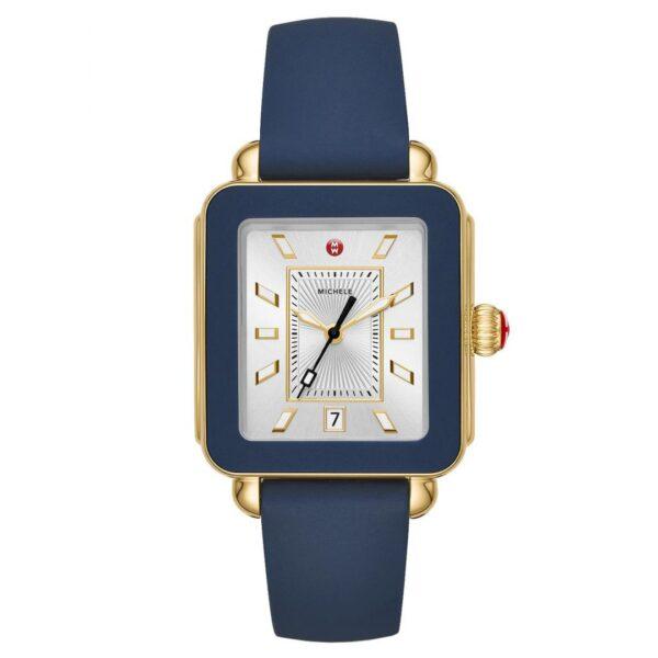 Michele Deco Sport Gold Tone and Navy