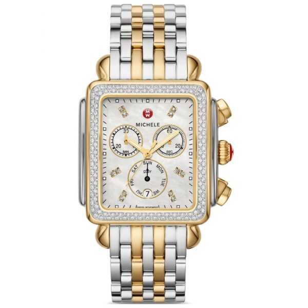 Michele Deco XL Two-Tone Diamond Dial