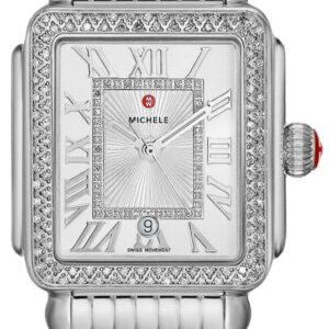 Michele Deco Madison Stainless Steel Diamond