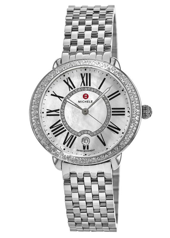 Michele Serein Mid Stainless Steel Diamond